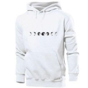 Męska bluza z kapturem Moon phases