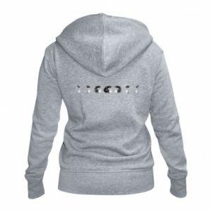Women's zip up hoodies Moon phases - PrintSalon