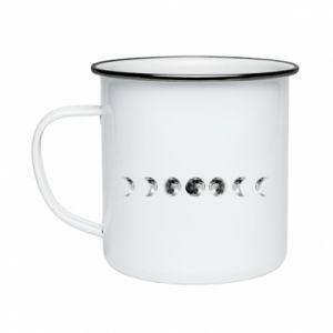 Enameled mug Moon phases - PrintSalon