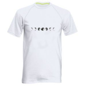Men's sports t-shirt Moon phases