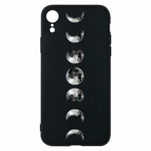 Phone case for iPhone XR Moon phases - PrintSalon