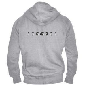 Men's zip up hoodie Moon phases - PrintSalon