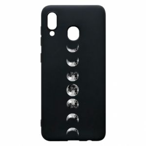 Phone case for Samsung A20 Moon phases - PrintSalon