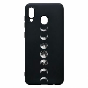 Phone case for Samsung A30 Moon phases - PrintSalon
