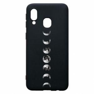 Phone case for Samsung A40 Moon phases - PrintSalon