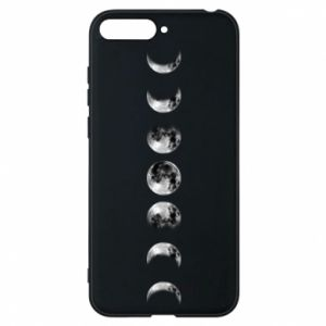 Phone case for Huawei Y6 2018 Moon phases - PrintSalon