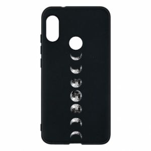 Phone case for Mi A2 Lite Moon phases - PrintSalon