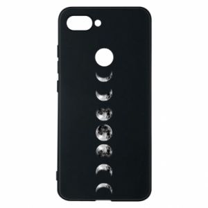 Phone case for Xiaomi Mi8 Lite Moon phases - PrintSalon