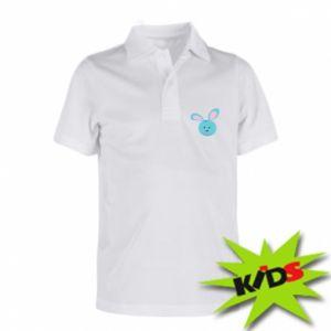 Koszulka polo dziecięca Morda niebieskiego króliczka