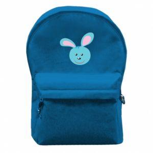 Plecak z przednią kieszenią Morda niebieskiego króliczka