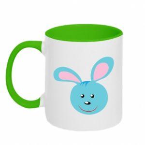 Two-toned mug Muzzle of blue bunny
