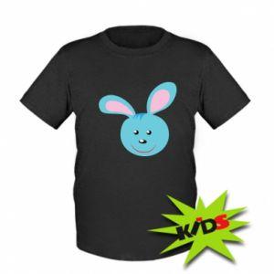 Kids T-shirt Muzzle of blue bunny