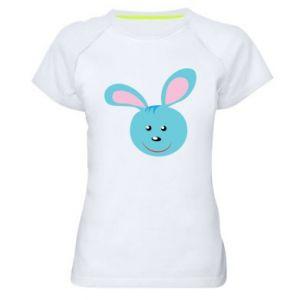 Koszulka sportowa damska Morda niebieskiego króliczka