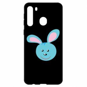 Etui na Samsung A21 Morda niebieskiego króliczka