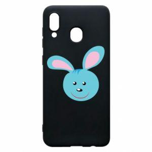 Etui na Samsung A20 Morda niebieskiego króliczka