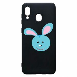 Etui na Samsung A30 Morda niebieskiego króliczka