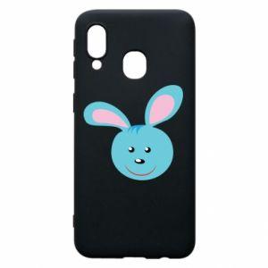 Etui na Samsung A40 Morda niebieskiego króliczka