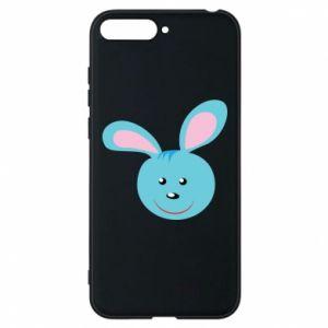 Etui na Huawei Y6 2018 Morda niebieskiego króliczka