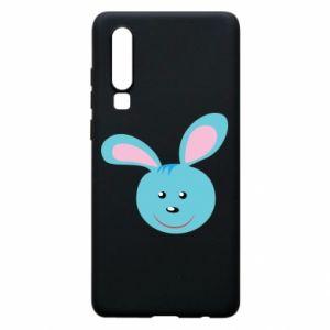 Etui na Huawei P30 Morda niebieskiego króliczka