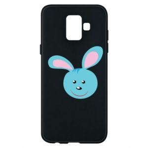 Etui na Samsung A6 2018 Morda niebieskiego króliczka