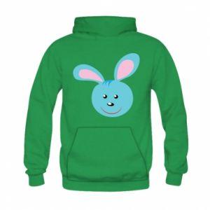 Bluza z kapturem dziecięca Morda niebieskiego króliczka