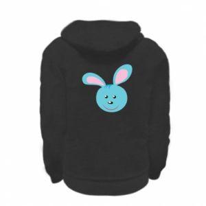 Bluza na zamek dziecięca Morda niebieskiego króliczka