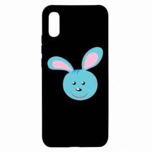Xiaomi Redmi 9a Case Muzzle of blue bunny
