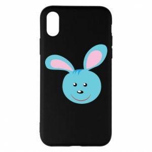 Etui na iPhone X/Xs Morda niebieskiego króliczka