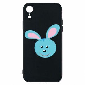 Etui na iPhone XR Morda niebieskiego króliczka