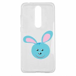 Etui na Nokia 5.1 Plus Morda niebieskiego króliczka