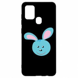 Etui na Samsung A21s Morda niebieskiego króliczka