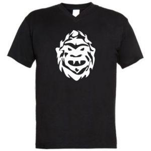 Męska koszulka V-neck Morda potwora - PrintSalon