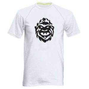 Męska koszulka sportowa Morda potwora - PrintSalon