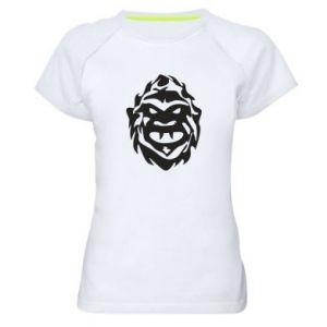 Damska koszulka sportowa Morda potwora - PrintSalon
