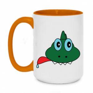 Two-toned mug 450ml Muzzle lizard