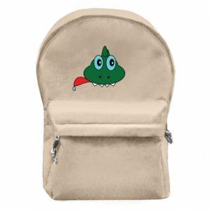 Plecak z przednią kieszenią Mordka jaszczurka