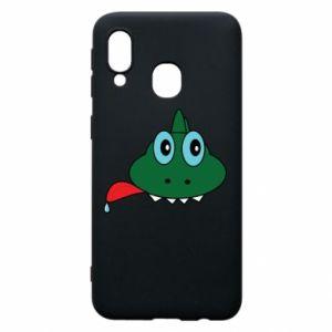 Phone case for Samsung A40 Muzzle lizard