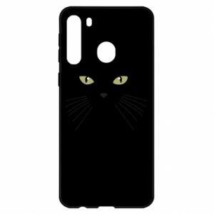 Samsung A21 Case Muzzle Cat