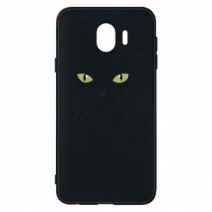 Samsung J4 Case Muzzle Cat