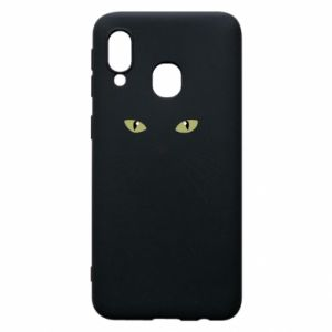 Samsung A40 Case Muzzle Cat