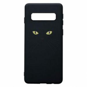 Samsung S10 Case Muzzle Cat