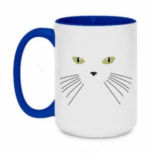 Two-toned mug 450ml Muzzle Cat