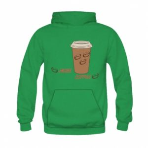 Bluza z kapturem dziecięca More coffee