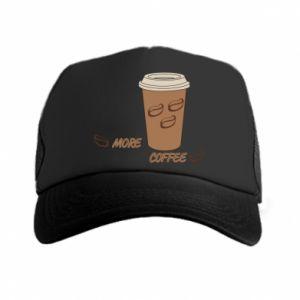 Czapka trucker More coffee