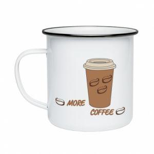 Kubek emaliowany More coffee