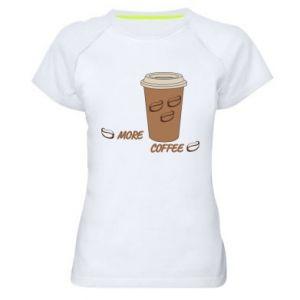Koszulka sportowa damska More coffee