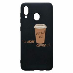 Etui na Samsung A20 More coffee