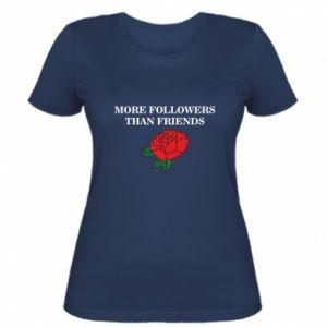Damska koszulka More followers than friends