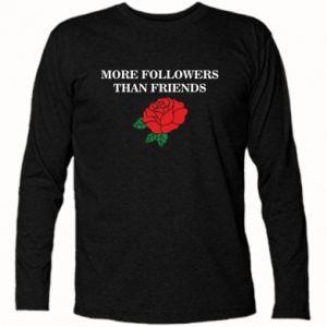 Koszulka z długim rękawem More followers than friends