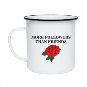 Kubek emaliowane More followers than friends